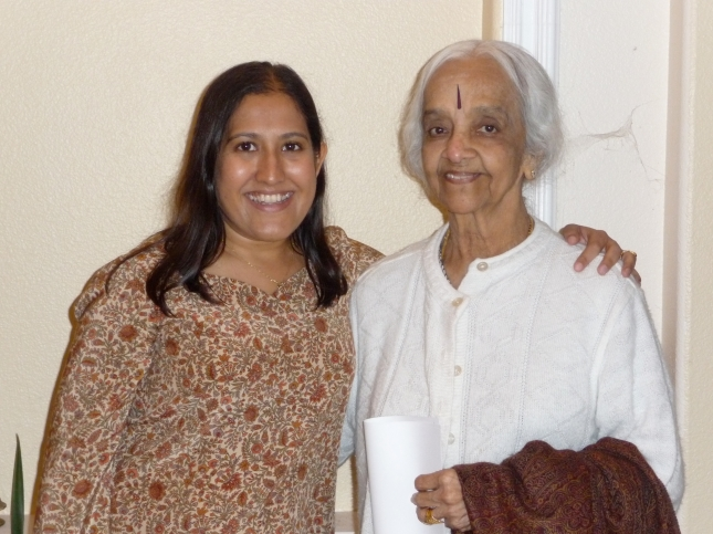 Lakshmi Shankar (right) with Kavita Das